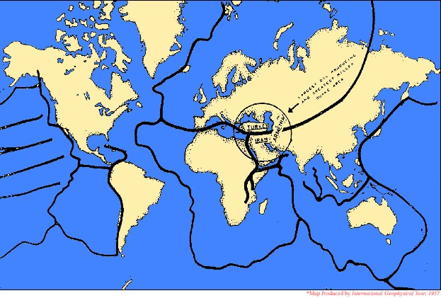 Fault line world map timekeeperwatches world map with fault lines of major an minor fault line chart updated gumiabroncs Image collections